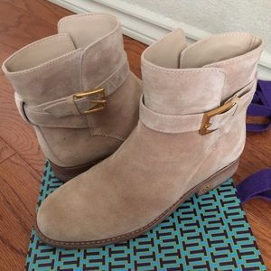 Tory Burch Ankle Booties 6M Tan